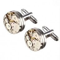 Cufflinks watch movement Round