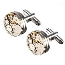 Manschettenknöpfe mit Uhrwerk Round
