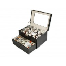 Caja guarda 20 relojes PU Negro