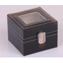 Caja guarda 2 relojes PU Negro