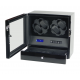 Watch Winder 4 Black Carbon Fiber LCD LED light