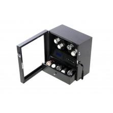 Watch Winder 4 Carbon Fiber LCD Nero LED light