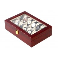 Watch box for 12 Lacquered Wood Cherry