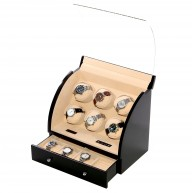 Vitrina movimiento relojes Watch Winder 6 Negra LCD