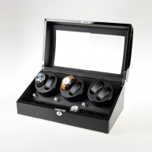 Vitrina movimiento relojes Watch Winder 6+7 Black-Cream