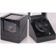Movimentador Watch Winder 2 relogios Black-Carbon Fiber