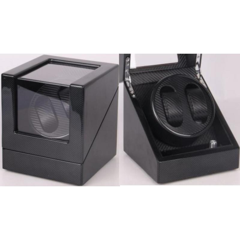 Watch Winder (1 winder 2 watches) Black-Carbon Fiber