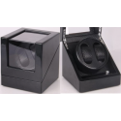 Watch Winder carica 2 orologi Black-Carbon Fiber