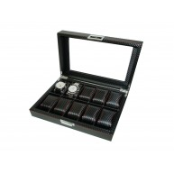 Carbon fiber watch case for 10 Red line