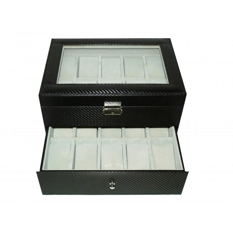 Carbon fiber watch case for 20 matte