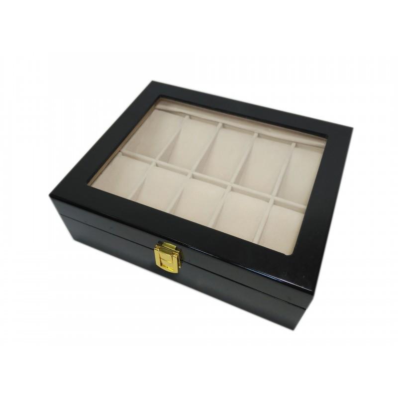 Uhrenbox fur 10 schwarz
