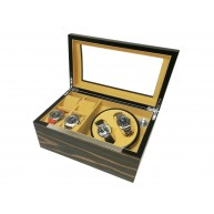 Watch Winder carica 2 orologi Zebra-cream