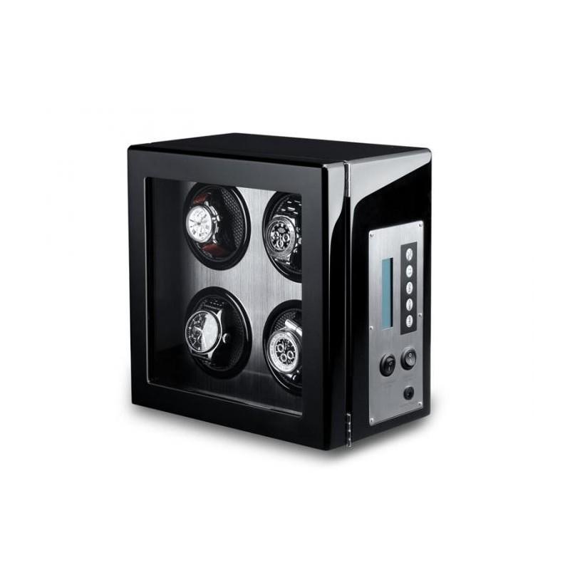 Vitrina movimiento relojes Watch Winder 4 Carbon fiber ALU LCD-LED