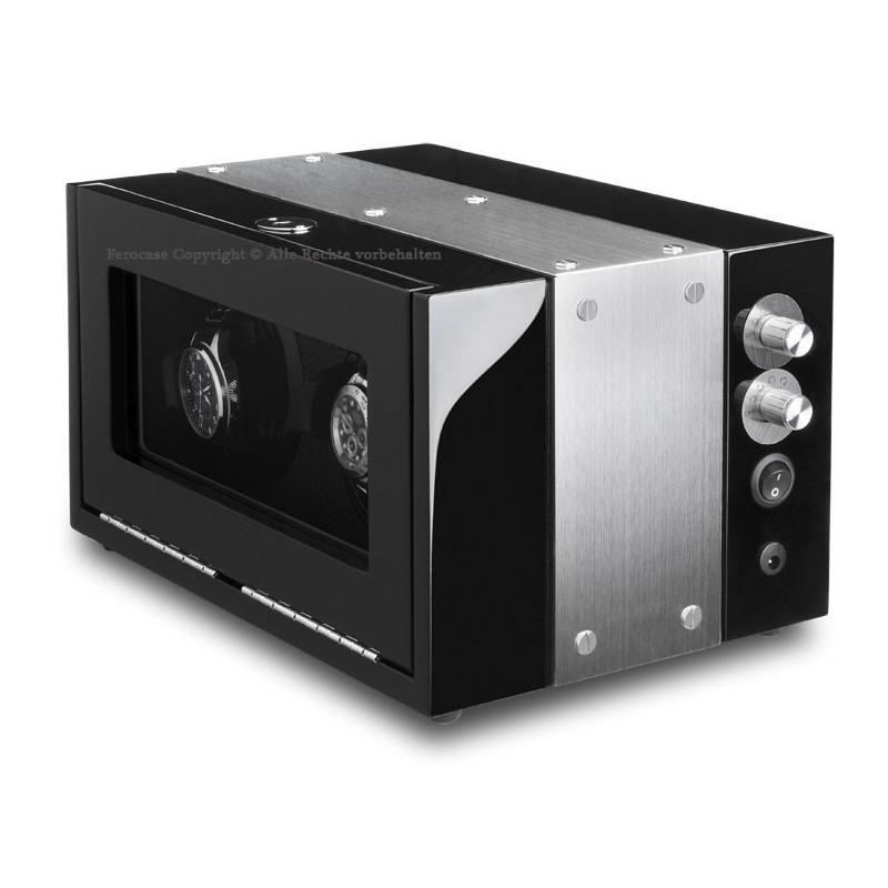 Vitrina movimiento relojes Watch Winder 2 Carbon fiber ALU LCD-LED