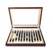 Vitrine para 12 canetas madeira