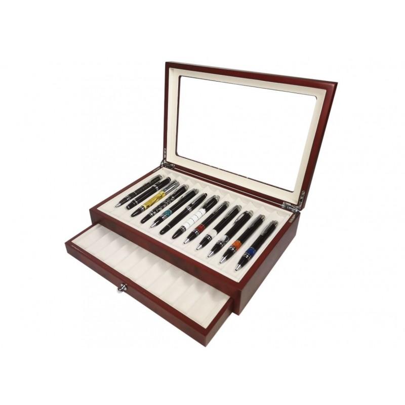 Vitrine for 23 pens Cherry