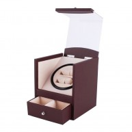 Watch Winder carica 2 orologi Brown PU Leather