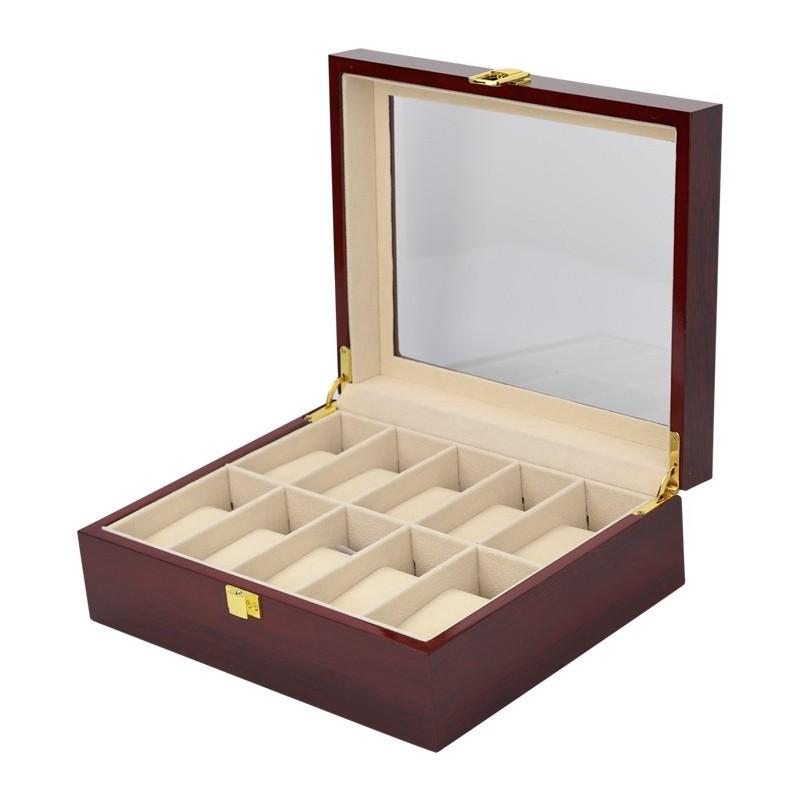 Caja guarda 10 relojes cherry