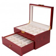 Watch box for 20. Lacquered Wood, Cherry