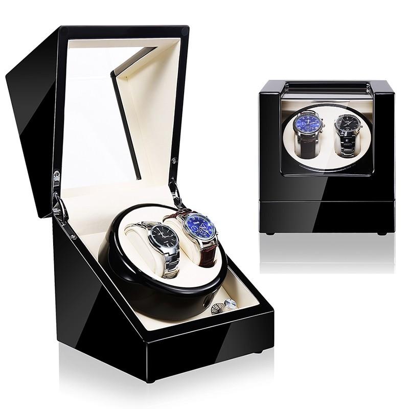 Watch Winder (1 winder 2 watches) Black-Cream