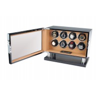 Watch Winder Lux 8 relojes. Black - Brown