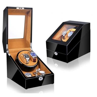 Remontoir montres (1 moteur 2 montres) Black-Bronw