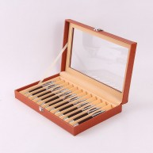 Vitrina colección para 12 estilográficas. Orange