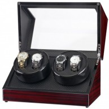 Watch winder 4 relojes. Black Carbon fiber