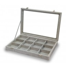 Gemelli scatola, anelli, 12 spazi grigi