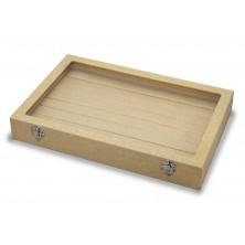 Caixa de anel, 7 slots de anel de madeira