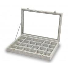Gemelli scatola, anelli,24 spazi grigi