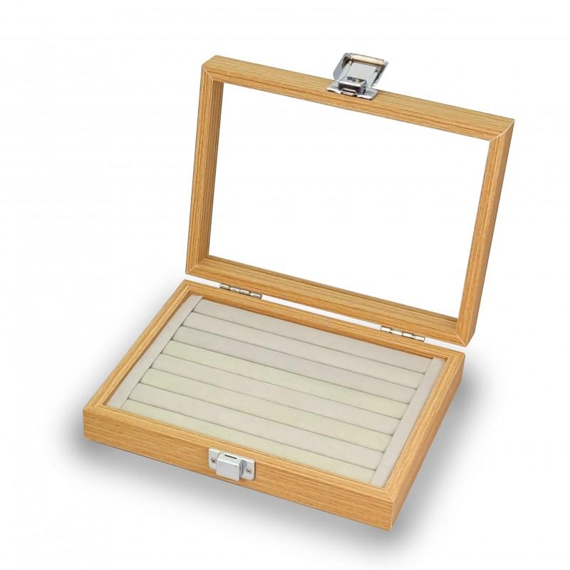 Ring box, 7 Wood Ring Slots