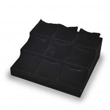 Armbanduhrständer 3 Etagen schwarze pu