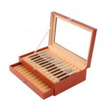 Vitrina colección para 24 estilográficas. Orange