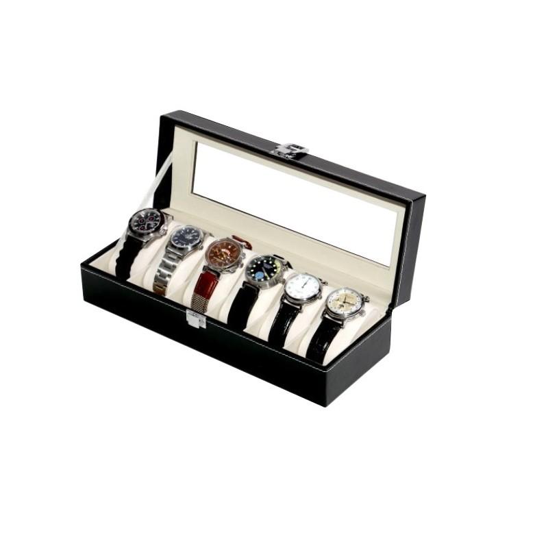 Vitrina guarda 6 relojes black
