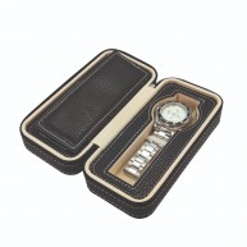 Uhrenbox für 2 Armbanduhren – mit Reißverschluss