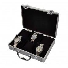 Vitrina guarda 6 relojes en aluminio