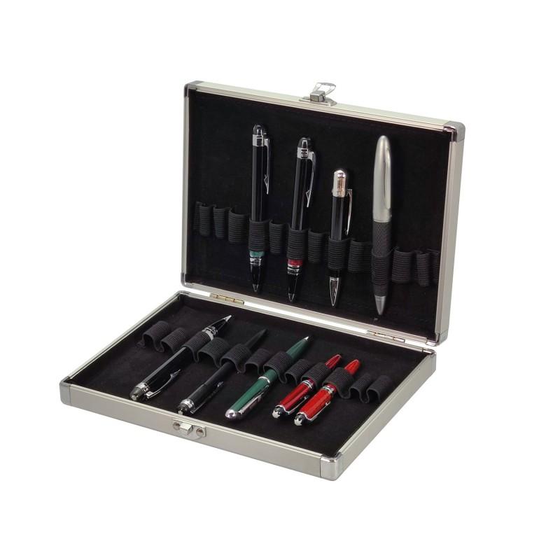 Pen box for 24 Compaq Aluminium