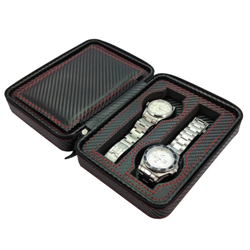 Zipper case for 4 Watches CF
