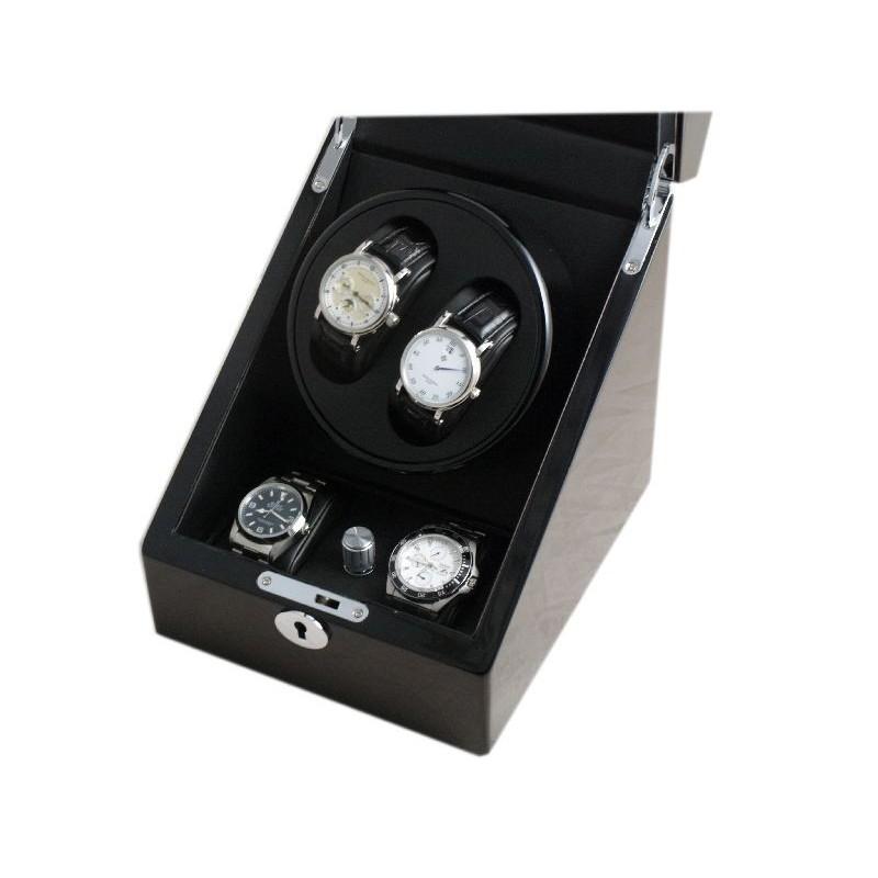 Watch Winder (1 motorini 2 orologi) Black-Black