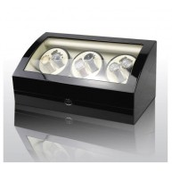 Vitrina movimiento relojes Watch Winder 6+7 Black-Cream