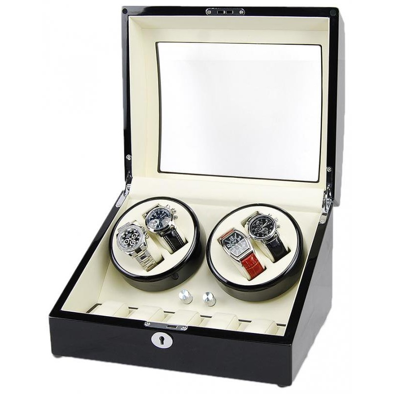 8105a86e0 ... Vitrina relojes Watch Winder 4+6 Black-Cream ...