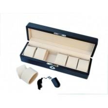 Uhrenbox für 6 Armbanduhren - Kohlefaser