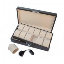 Uhrenbox fur 12 Carbon fiber