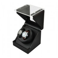 Watch Winder (1 motorini 2 orologi) GLASS-black CF