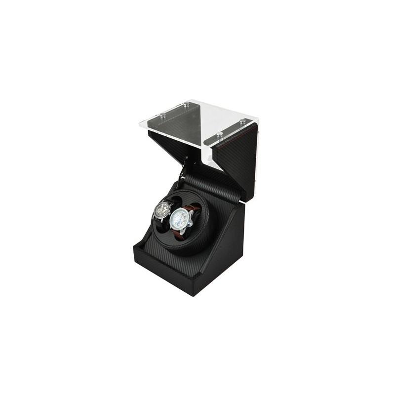 Uhrenbeweger für 2 +2 Uhren GLASS-black CF