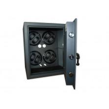 Coffre-fort remontoir montres 4 Black LED