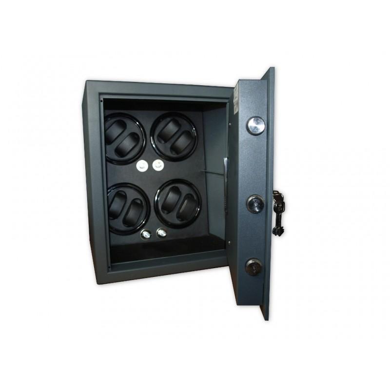 Coffre Fort Remontoir Montres 4 Black LED