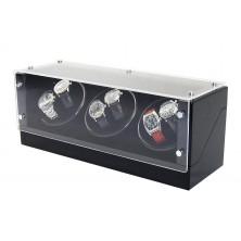Remontoir pour montres (3 moteur 6 montres) GLASS-black