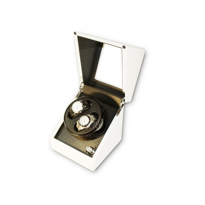 Watch Winder (1 winder 2 watches) White-Carbon